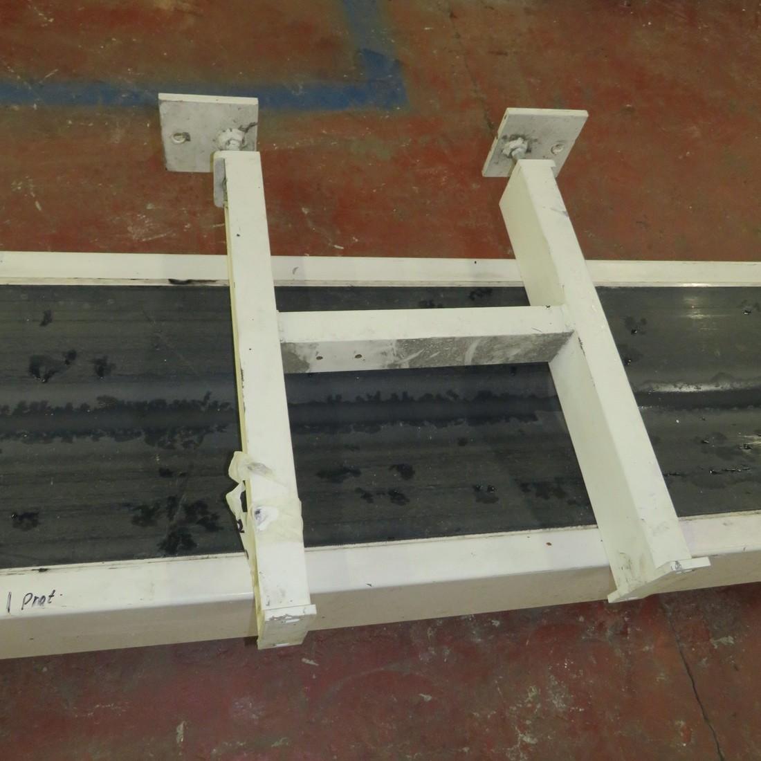 R4FB1180 Belt conveyor curved width 390 x largeur 9600mm
