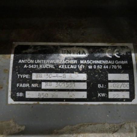 R6BK788 Mild steel UNTHA Crusher - Type RS30-4-S - Hp15
