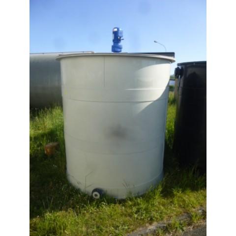 R6MA6151 Cuve mélangeuse en PVC  - 5000 litres - 0.55Kw - 171t/min