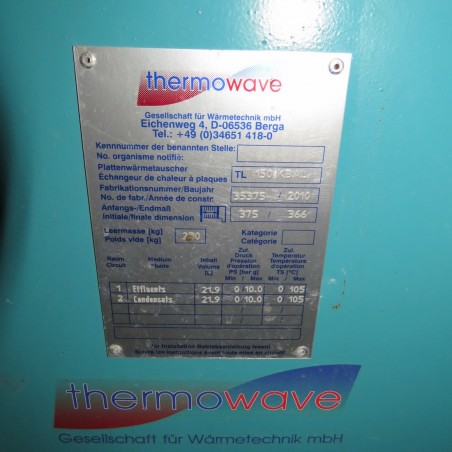 R1KP743 THERMOWAVE Plates exchanger - Type TL150KBAL
