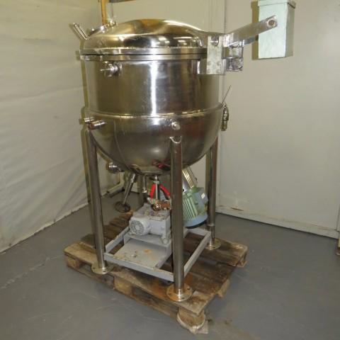 R6ME6386 Mélangeur GIUSTI Inox avec double enveloppe - 250 litres - 2.2kw