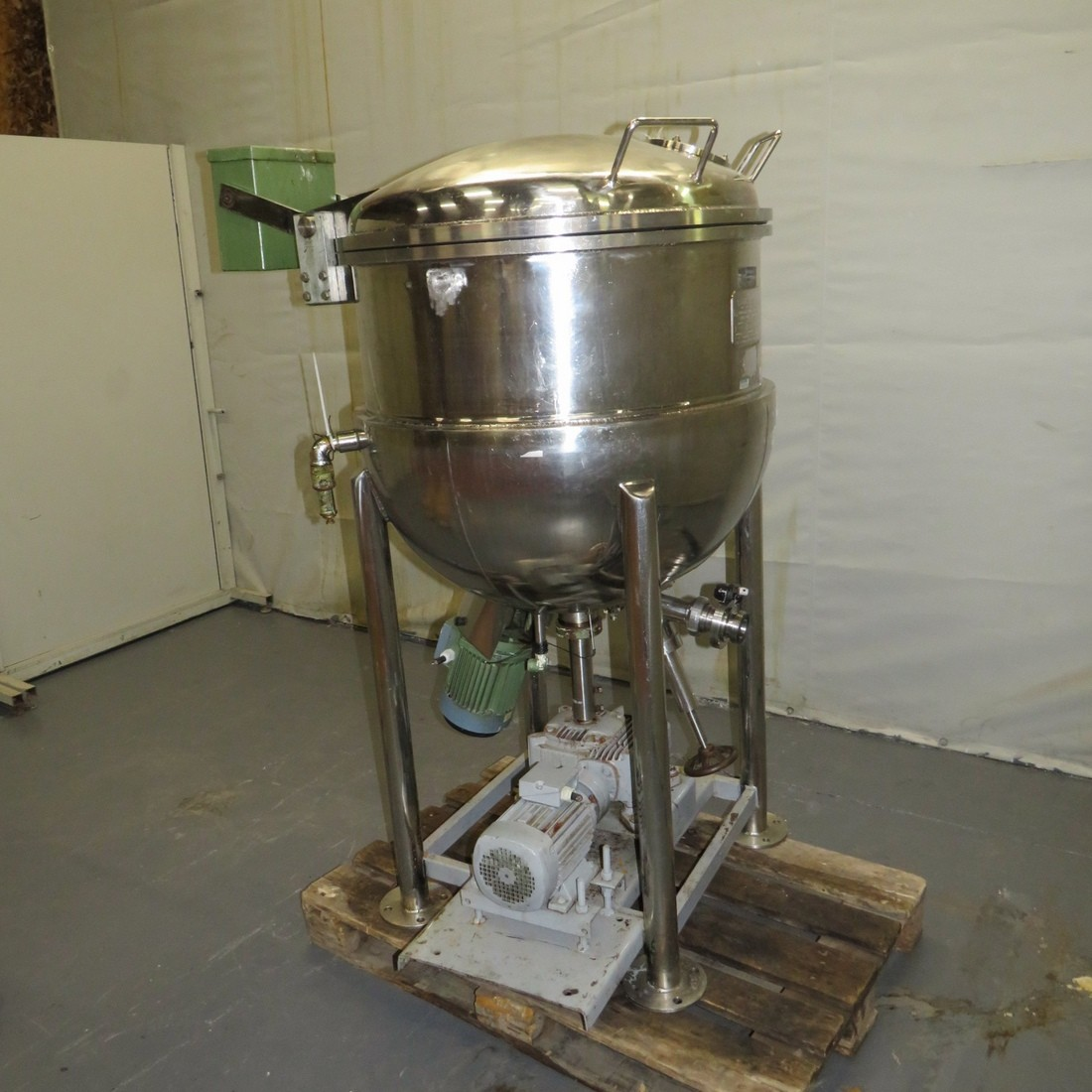 R6ME6386 GIUSTI Stainless steel Mixer with double jacket - 250 Liters - Hp3