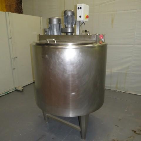 R6MA6153 Cuve mélangeuse PIERRE GUERIN Inox avec double enveloppe  - 500 Litres