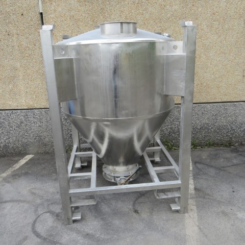 R11CB184 Container vertical en inox -1200 litres