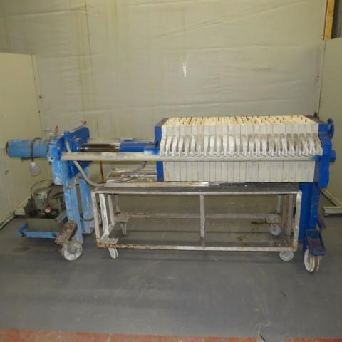 R6FP999 Filtre presse CHOQUENET - 7.5m² - 25 plateaux 500X500mm