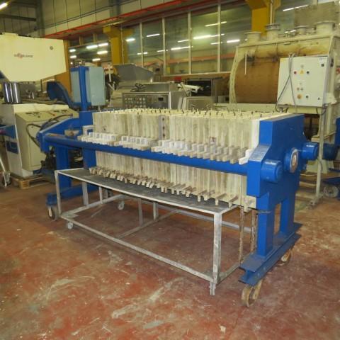R6FP1000 Filtre presse CHOQUENET - 16m² - 33 plateaux 630X630mm