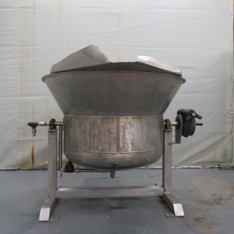 R11DB22688 Cuve de stockage en inox double enveloppe basculante - 500 litres