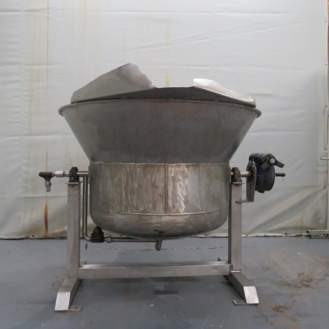 R11DB22688 Stainless steel tilting double jacket vessel - 500 liters