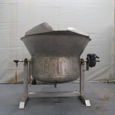 R11DB22688 Stainless steel tilting double jacket vessel - 500 liters