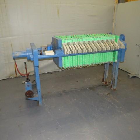 R6FP1001 Filtre presse CHOQUENET - 7m² - 23 plateaux 500X500mm