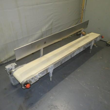 R4FB1186 Stainless steel frame belt conveyor - Width 300mm - Lenght 2600mm
