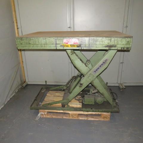 R4A782 Table élévatrice TREPEL - 1000kg - plâteau 1000X1500 mm