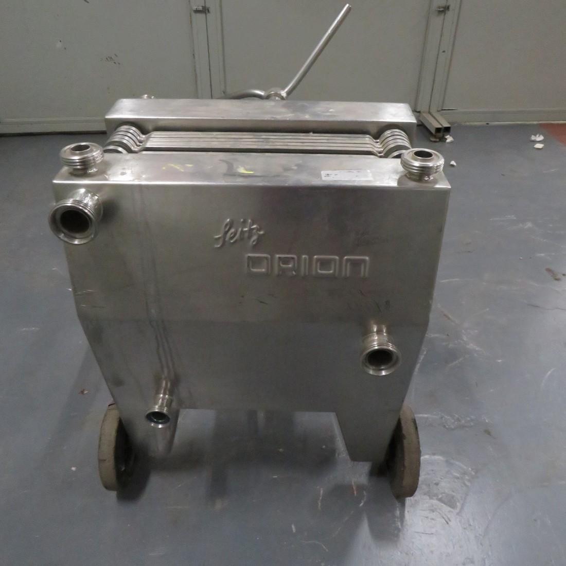 R6FPL51 Stainless steel  SEITZ-WERKE plates filter - 7 plates 400X400mm