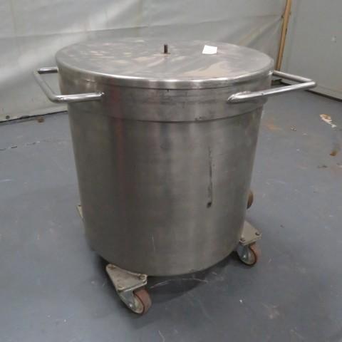 R11DB22697 Cuve de stockage en inox sur roulettes - 100 litres