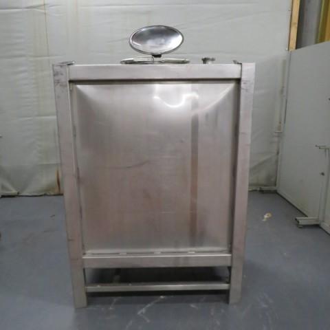 R11CB185 Container inox parallélépipédique- 1000 litres - Liquide