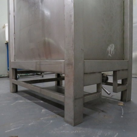 R11CB185 Stainless steel parallelepipedal container - 1000 liters - Liquid