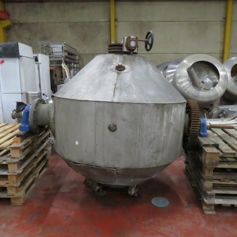 R1V1055 Sécheur sous vide rotatif DE DIETRICH inox - Type SNCT - 1040 litres