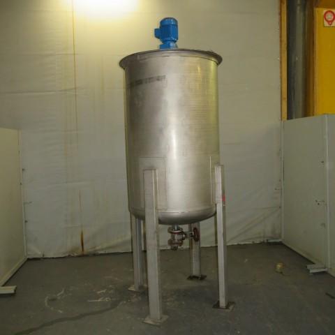 R6MA6166 Cuve mélangeuse Inox sur pieds - 1000 litres