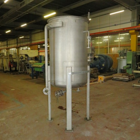 R11DB22707 Stainless steel vessel on feet - 1000 liters