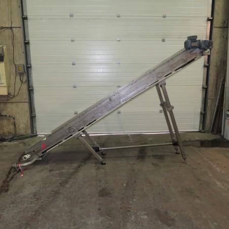 R4FB1187 Stainless steel belt elevator conveyor - Width 400mm - Length 3300mm