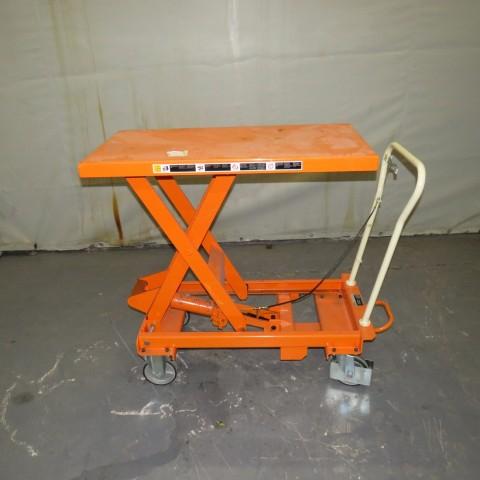R4A792 Table élévatrice manuelle BISHAMON - 500Kg - plateau 1000X500mm