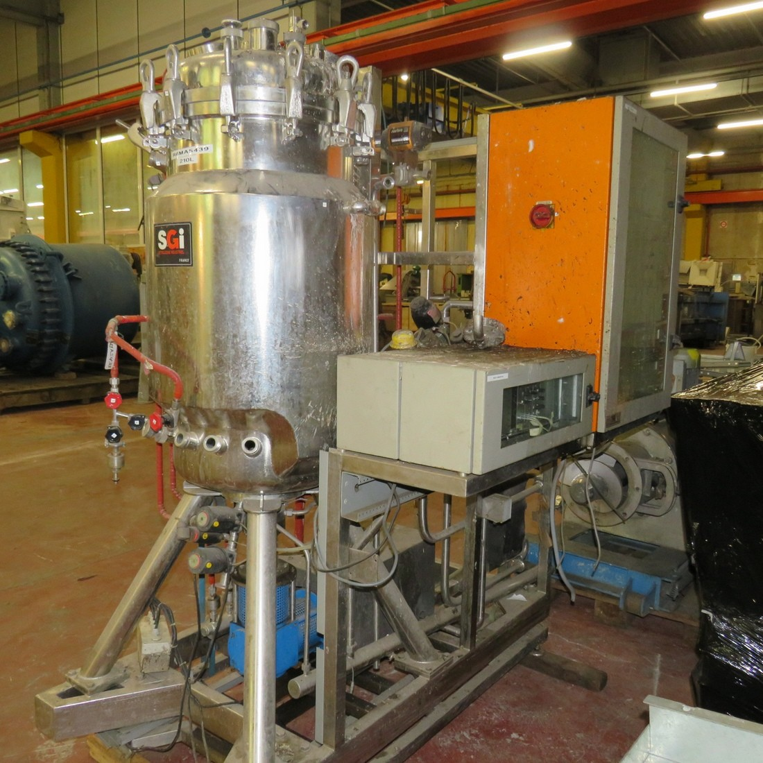 R6MA6168 Stainless steel CMV mixing tank - 210 liters - double jacket