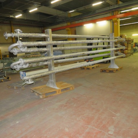 R1K1096 Stainless steel FABRI tubes exchanger - 8m² - 6 tubes Ø72mm