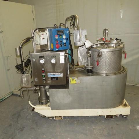 R6EE867 Stainless steel ROUSSELET ROBATEL centrifuge - RCR 40VxR Type