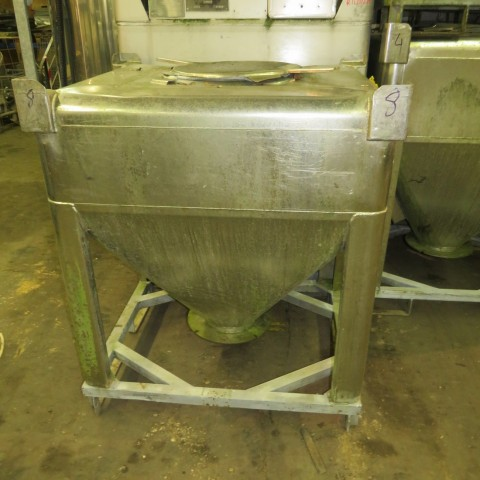 R11CB195 Stainless steel CMS container - 600 liters