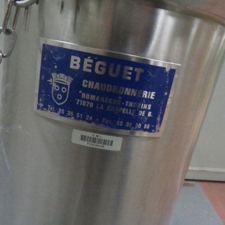 R6MA6175 Stainless steel BEGUET Mixing tank - 30 liters