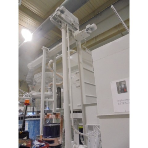 R15A1048 Mild steel bag emptying hopper with dust filter and powder transport system