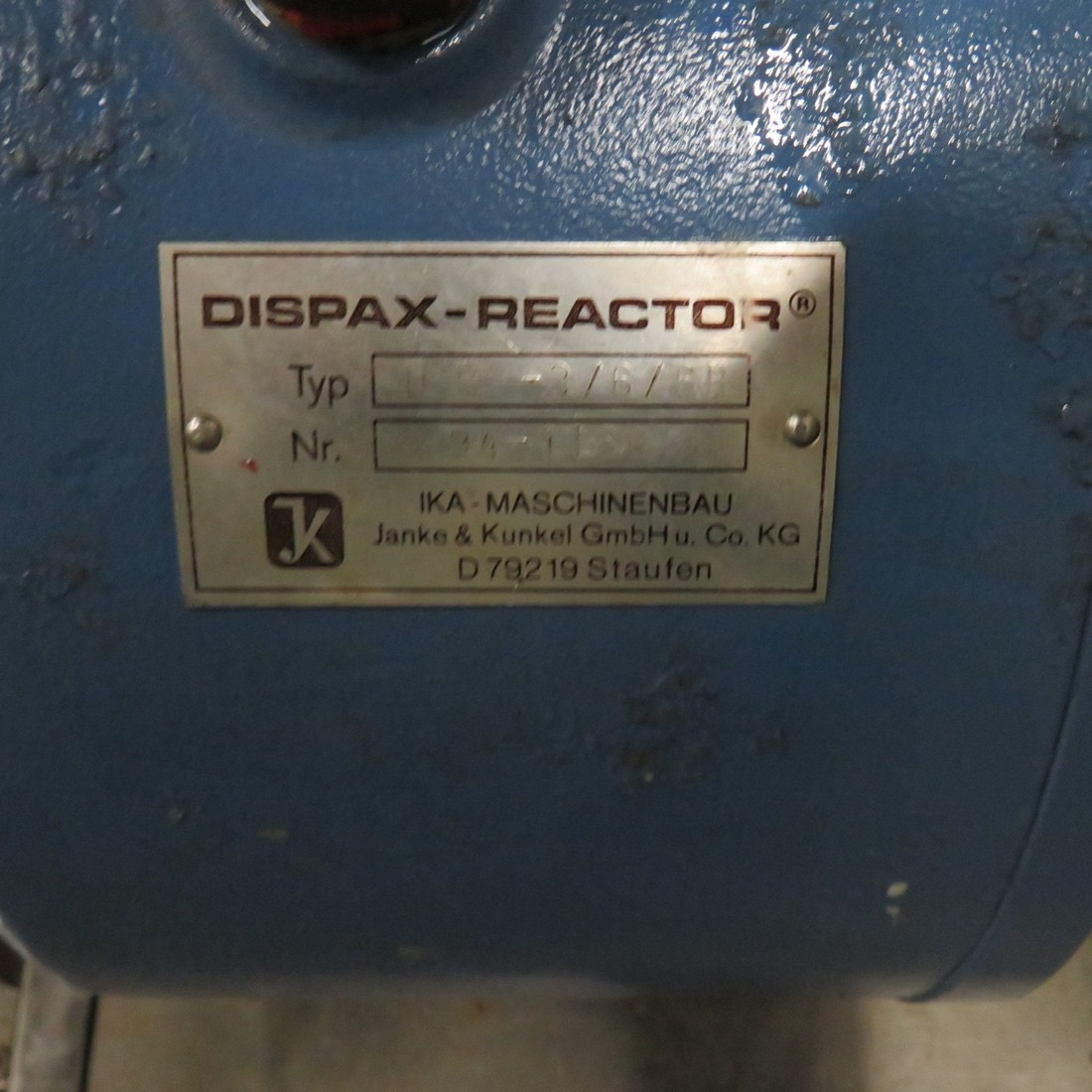 R6BH862 Stainless steel IKA DISPAX REACTOR Homogenizer mill