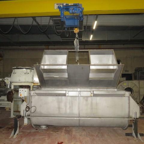 R6MK1421 Mélangeur à rubans Inox - 3000 litres - 22Kw