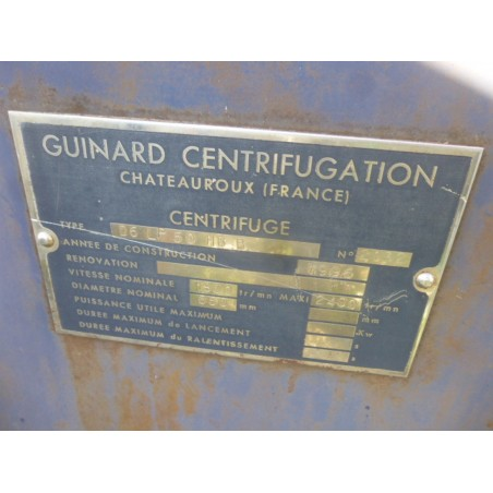 R6EE869 GUINARD Centrifuge - D6LP50 HB B Type - Visible by appointment
