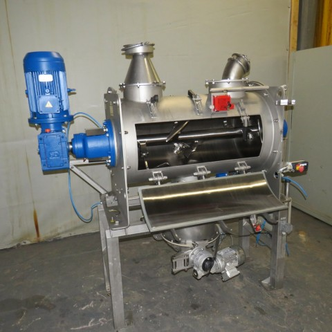 R6ML1394 Mélangeur à pales WAM Inox avec émotteur -Type WBH 200/30 -300 litres