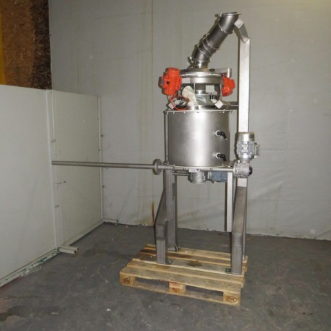 R15A1077 Skid Tamiseur vibrant Ø400 mm / Doseur transitube Inox à vis