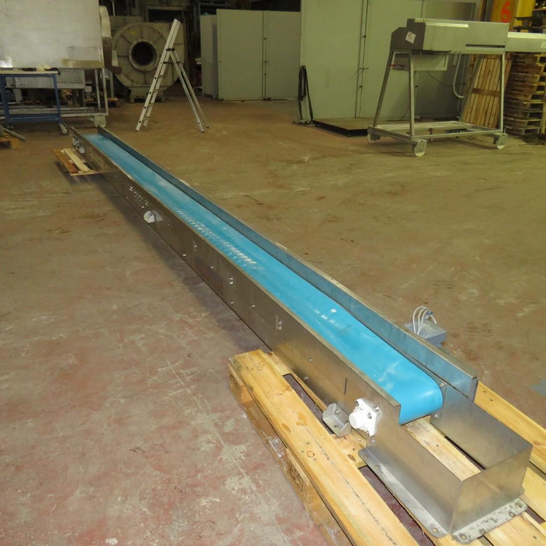 R4FB1190 Stainless stell frame belt conveyor - Lenght 5330 mm - width 250 mm