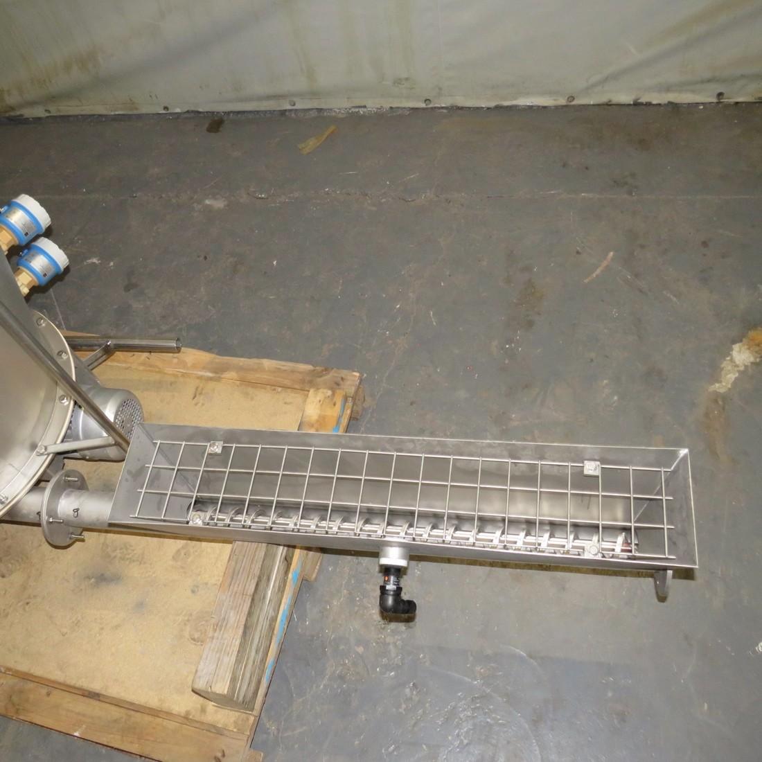 R11TB895 Stainless steel Transitube bag empty hooper - 180 liters
