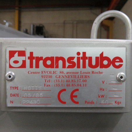 R11TB895 Trémie Vide Sac Inox Transitube - 180 litres