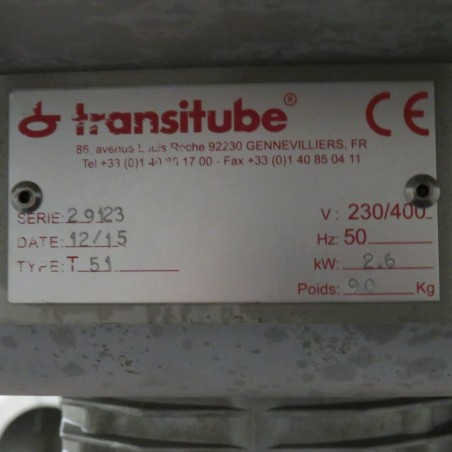 R6VB849 Stainless steel Transitube Powder dosing machine - 120 liters