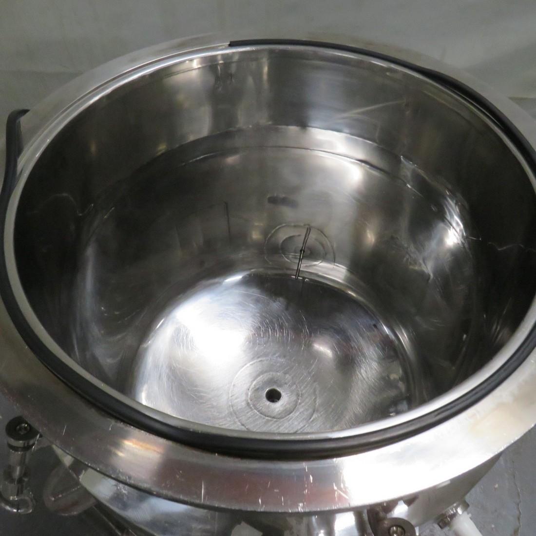 R11DB22719 Stainless steel vessel - 100 liters - Double jacket