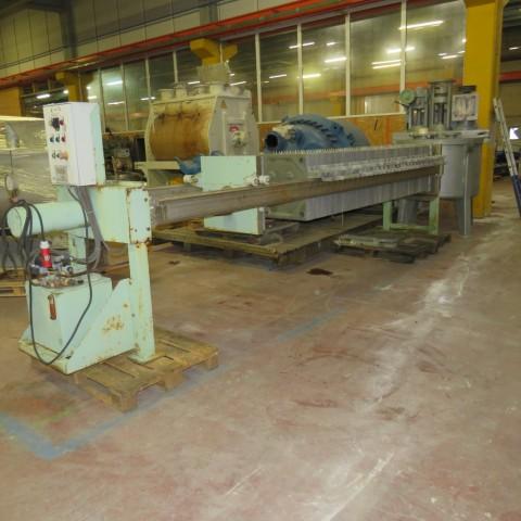 R6FP1005 Filtre presse VELO - 63 plateaux polypro 630x630mm