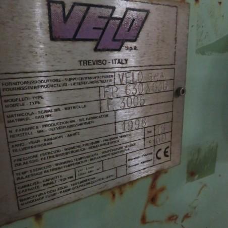 R6FP1005 VELO Filter press - 63 plates polypro 630x630mm