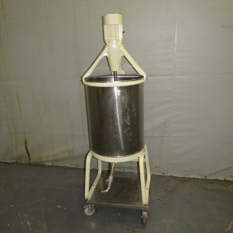 R6MA6181 Stainless steel mixing tank - 120 liters - Hp1.5 - Rpm3000