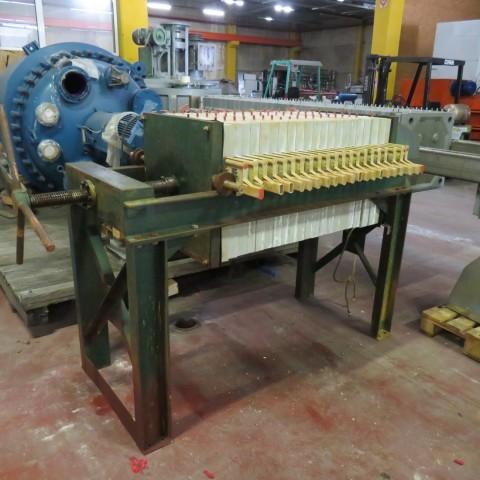 R6FP1006 Filtre presse - 21 plateaux polypropylène 630X630mm