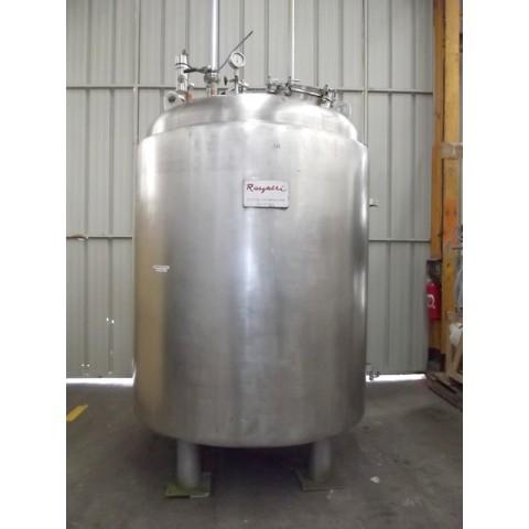 R11DB22637 Cuve LABBE cylindrique verticale en inox 4200 litres avec double enveloppe
