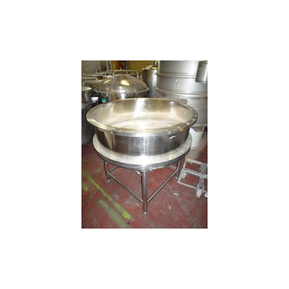 R6F1045  Stainless steel PHARMACIA FINE CHEMICALS monoplate filter Ø 1000 mm