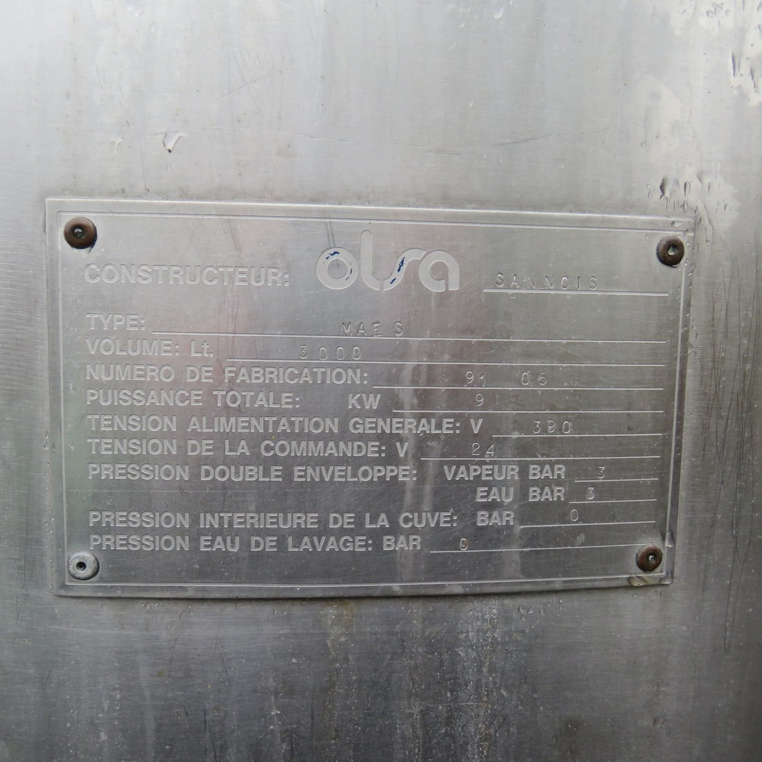 R6MA6106 cuve OLSA