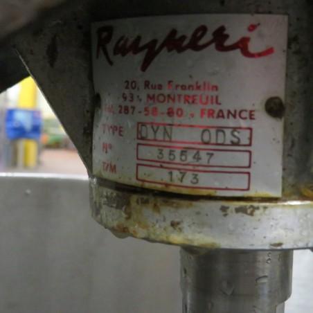 R6MA6111 Cuve mélangeuse inox 150 litres 0.55 kw -0.75 cv