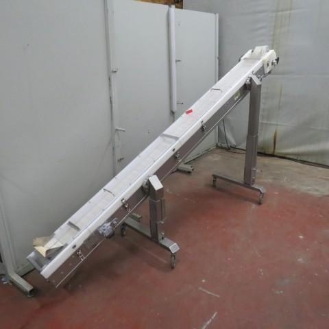 R4FB1160 Convoyeur élévateur inox longueur 2900 mm